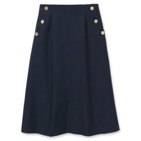 UNTITLED(アンタイトル)◆【洗える】シャンブレーツイルAラインスカート