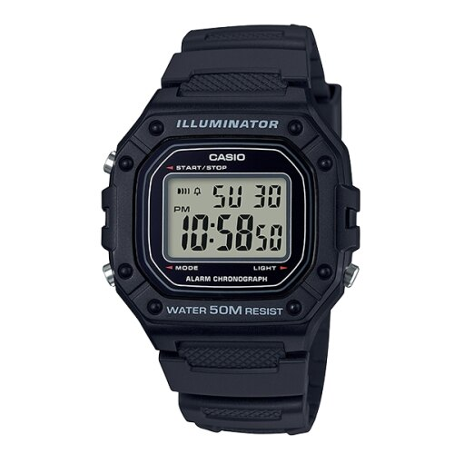 CASIO 卡西歐復古方形錶款/W-218H-1AVDF|618年中狂歡↘專櫃手錶全網最低