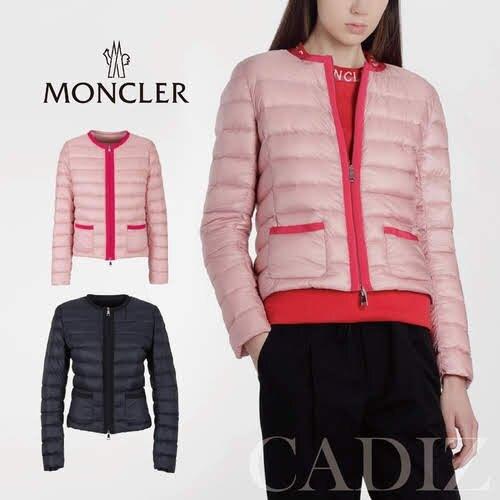 預購 義大利正品 Moncler CRISTALLETTE PADDED JACKET 粉色藍色中性率性輕量羽絨外套