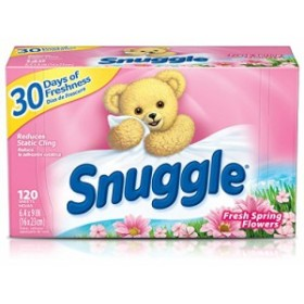 Snuggle Fabric Softener Dryer Sheets, Fresh Spring Flowers, 120 Count by Snuggle