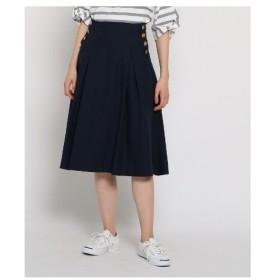 Dessin(Ladies)(デッサン(レディース))【洗える】マリンタックフレアスカート