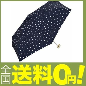 ワールドパーティー(Wpc.) 雨傘 折りたたみ傘 ネイビー 50cm レディース クラッチバッグタイプ ドットミニ 106-158