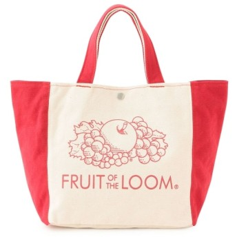 ジュンレッド/【FRUIT OF THE LOOM】2TONE TOTE BAG/レッド/F