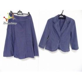 ヒロコビス HIROKO BIS スカートスーツ サイズ9 M レディース ブルー   スペシャル特価 20190919