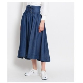 Dessin(Ladies)(デッサン(レディース))【洗える】レースアップフレアスカート