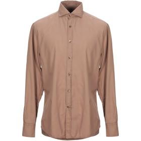《期間限定 セール開催中》BRUNELLO CUCINELLI メンズ シャツ ブラウン S コットン 100%