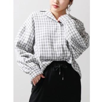 [マルイ]【セール】WEGO/チェックオープンカラーBIGシャツ/ウィゴー(レディース)(WEGO)