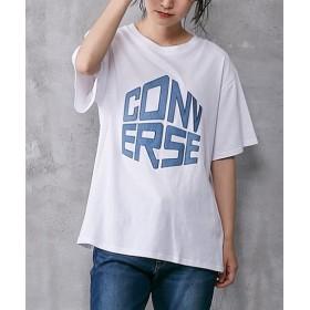 【コンバース】デニムアップリケTシャツ (Tシャツ・カットソー)(レディース)T-shirts