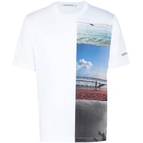 《期間限定セール開催中!》CALVIN KLEIN JEANS メンズ T シャツ ホワイト S コットン 100% VERTICAL PHOTOGRAPHI