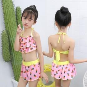 子供水着 女の子 子供用 キッズ水着 ベビー水着 2点セット 女児 ジュニア 水着 夏 海水浴 温泉