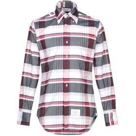 《期間限定セール開催中!》THOM BROWNE メンズ シャツ ホワイト 0 コットン 100%