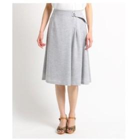 SunaUna(スーナウーナ)【洗える】シャンブレーラップベルトスカート