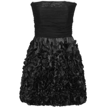 《セール開催中》ELISABETTA FRANCHI GOLD レディース ミニワンピース&ドレス ブラック 42 ナイロン 100%