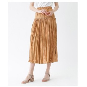 titivate(ティティベイト)シャーリングワッシャープリーツスカート