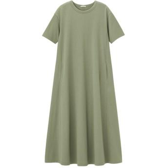 (GU)Aラインワンピース(半袖)B GREEN XL