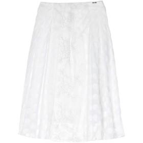 《セール開催中》LIU JO レディース 7分丈スカート ホワイト 40 ナイロン 60% / コットン 40% / ポリエステル