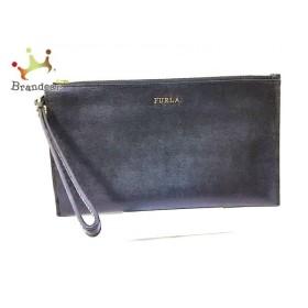 フルラ FURLA クラッチバッグ 黒 レザー  値下げ 20190909