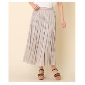 Couture Brooch(クチュールブローチ)◆【洗える】サテン消しプリーツスカート