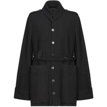 《セール開催中》ANN DEMEULEMEESTER メンズ コート ブラック M バージンウール 96% / ポリウレタン 4%
