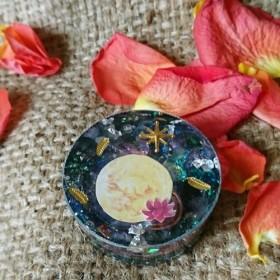 【レッド】心を癒すフルムーンと天使のオルゴナイト