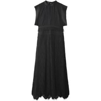 AULA アウラ 【予約販売】【AULA AILA】ミックスレース ドレス ブラック