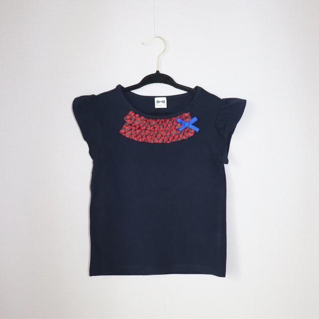 ファミリアチェックフレンチスリーブTシャツ110サイズ