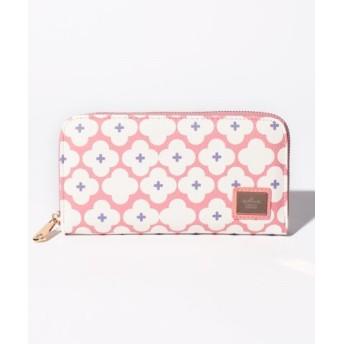 (Hallmark DESIGN COLLECTION/ホールマークデザインコレクション)花柄ラウンドファスナー財布/レディース ピンク