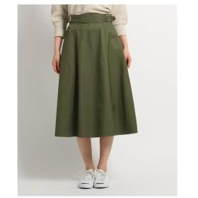 Dessin(Ladies)(デッサン(レディース))【洗える】【後ろウエストゴム】サイドベルトミディ丈スカート