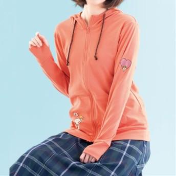 50%OFF【レディース】 ジップパーカ(ピーナッツ) - セシール ■カラー:オレンジ ■サイズ:M,L,LL
