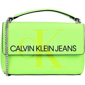 《期間限定セール開催中!》CALVIN KLEIN JEANS レディース メッセンジャーバッグ グリーン ポリウレタン 100% SCULPTED MONOGRAM E/