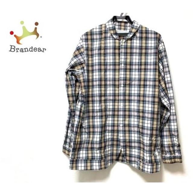 フィンガリン PHINGERIN 長袖シャツ サイズM メンズ 白×ダークグリーン×マルチ チェック柄   スペシャル特価 20190908