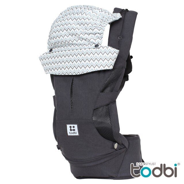 【TODBI】HiDDen 360特別版氣囊腰凳式揹巾(紐約灰)