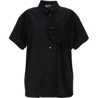 《セール開催中》ATINSIGHT by ANDREA TURCHI レディース シャツ ブラック 44 コットン 100%