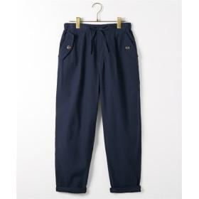 夏にサラッと綿で快適 イージーテーパードパンツ (レディースパンツ),pants