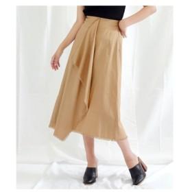 ANAP(アナップ)【Settimissimo】 ツイルフリンジラップデザインスカート