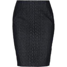 《期間限定セール開催中!》LES COPAINS レディース ひざ丈スカート ダークブルー 40 指定外繊維 100% / コットン