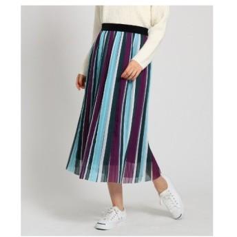 Dessin(Ladies)(デッサン(レディース))マルチストライプ プリーツスカート