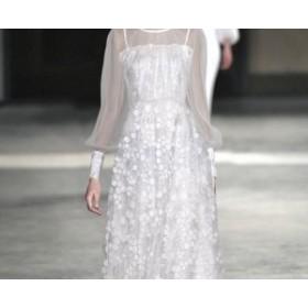 パーティードレス 結婚式 お呼ばれドレス 二次會 ワンピース フォーマル  袖あり 結婚式 お呼ばれドレス 結婚式ドレス  レデ