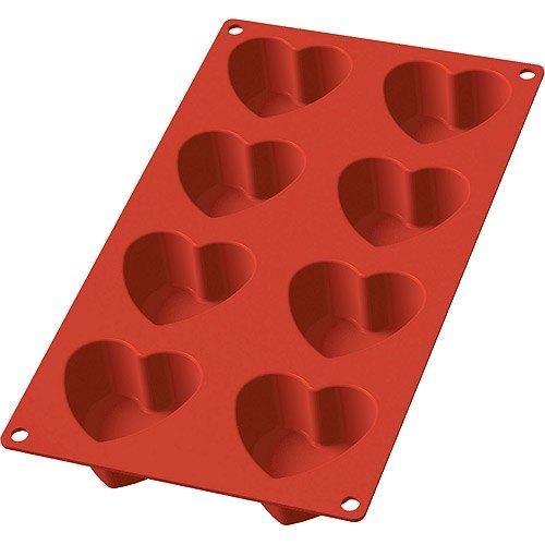 《LEKUE》8格愛心烤盤(紅)