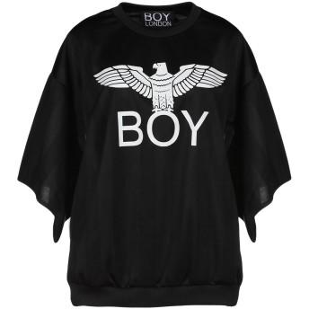 《期間限定セール開催中!》BOY LONDON レディース スウェットシャツ ブラック XS ポリエステル 100%