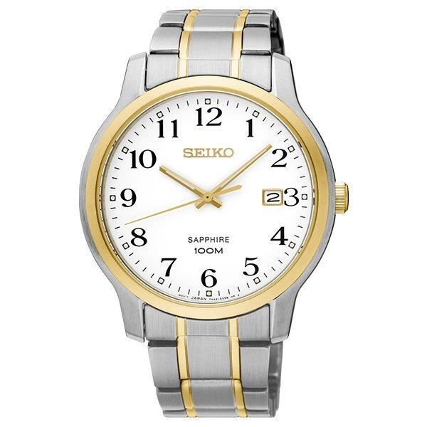 Seiko 精工錶 7N42-0GE0G(SGEH68P1)經典雙色數字簡約腕錶/白面 41mm