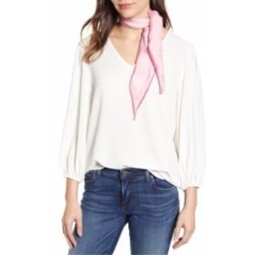 エコー レディース マフラー・ストール・スカーフ アクセサリー Echo Contrast Edge Diamond Cut Silk Scarf Pink