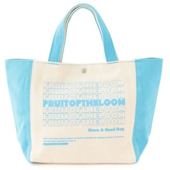 ジュンレッド/【FRUIT OF THE LOOM】2TONE TOTE BAG/サックス/F