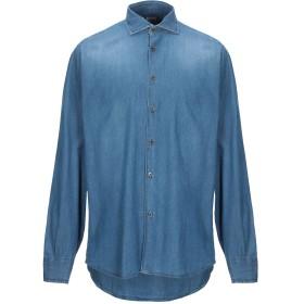 《期間限定 セール開催中》DOMENICO TAGLIENTE メンズ デニムシャツ ブルー 42 コットン 100%