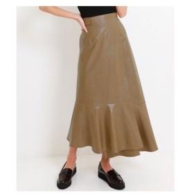 ANAP(アナップ)【Alluge】 コーティングファブリックラップスカート