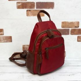 《SALE》ソリッドカラーナイロン プチサイズ リュック&ワンショルダー RED