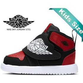 ナイキ スカイジョーダン 1 トドラー NIKE SKY JORDAN 1(TD) blk/wht-gym red bq7196-001 キッズ スニーカー 子供靴 BRED 12cm〜16cm