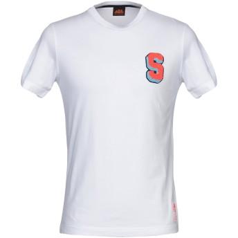 《セール開催中》SUNDEK メンズ T シャツ ホワイト L コットン 100%
