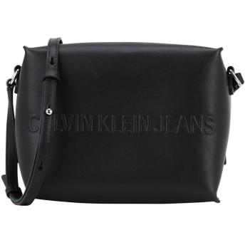 《期間限定セール開催中!》CALVIN KLEIN JEANS レディース メッセンジャーバッグ ブラック ポリウレタン 100% BOX CAMERA BAG