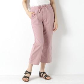パンツ レディース クロップドパンツ トリプルガーゼイージーパンツ[日本製] 「ピンク」